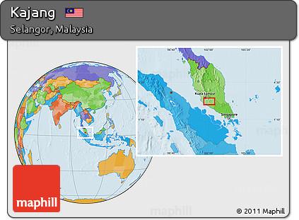 Free Political Location Map of Kajang