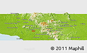 """Physical Panoramic Map of the area around 2°48'4""""N,102°4'29""""E"""