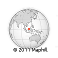 Outline Map of Mukah, rectangular outline