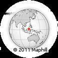 Outline Map of Governor of North Kalimantan Office, rectangular outline