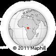 Outline Map of Bayanga, rectangular outline