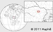 Blank Location Map of Alikolo