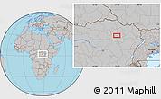 Gray Location Map of Alikolo
