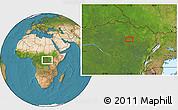 Satellite Location Map of Alikolo