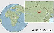 Savanna Style Location Map of Alikolo, hill shading
