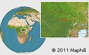 Satellite Location Map of Andagone