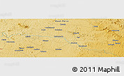 Physical Panoramic Map of Kitango