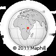 Outline Map of Oyaro Triangle, rectangular outline