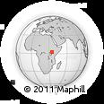 Outline Map of Moroto, rectangular outline