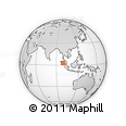 Outline Map of Huta Mariah, rectangular outline