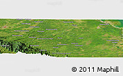 Satellite Panoramic Map of Aekpaung