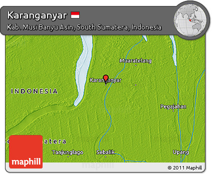 Free Physical 3d Map Of Karanganyar