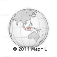 Outline Map of Amuntai, rectangular outline