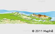 Physical Panoramic Map of Jayapura