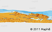 Political Panoramic Map of Jayapura