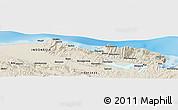 Shaded Relief Panoramic Map of Jayapura