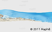Shaded Relief Panoramic Map of Vanimo