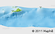 """Physical Panoramic Map of the area around 2°27'3""""S,147°58'29""""E"""