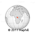 Outline Map of Akumbu, rectangular outline