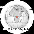 Outline Map of Yaulungu, rectangular outline