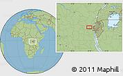 "Savanna Style Location Map of the area around 2°27'3""S,28°7'30""E"
