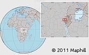 Gray Location Map of Buhokoro
