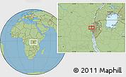 Savanna Style Location Map of Lubimbi