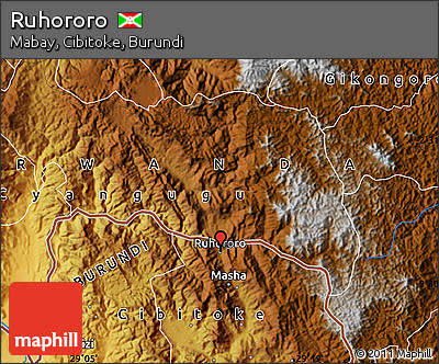 Physical Map of Ruhororo