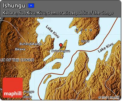 Physical Map of Ishungu