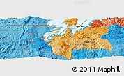 Political Panoramic Map of Buhokoro