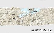 Shaded Relief Panoramic Map of Buhokoro
