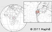 Blank Location Map of Gitobe