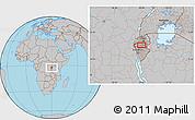 Gray Location Map of Gitobe