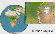 Satellite Location Map of Gitobe