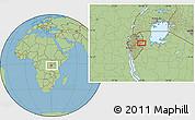 Savanna Style Location Map of Mwibu