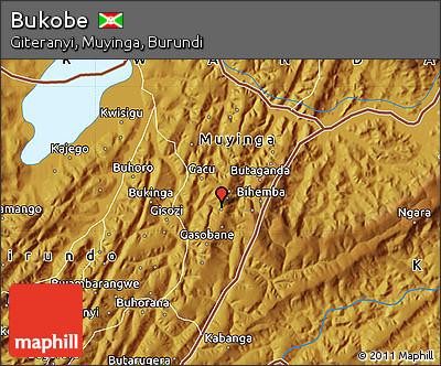 Physical Map of Bukobe
