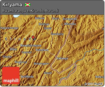 Physical Map of Kiryama