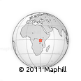 Outline Map of Mahamba, rectangular outline