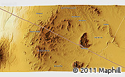 """Physical 3D Map of the area around 2°27'3""""S,36°37'30""""E"""