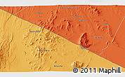 Political 3D Map of Mailua