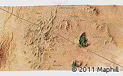 """Satellite 3D Map of the area around 2°27'3""""S,36°37'30""""E"""