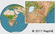 Satellite Location Map of Mailua