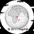 "Outline Map of the Area around 2° 27' 3"" S, 36° 37' 30"" E, rectangular outline"