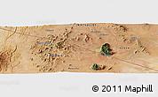 Satellite Panoramic Map of Mailua