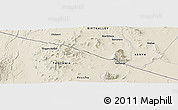 Shaded Relief Panoramic Map of Mailua