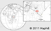 Blank Location Map of Mbirikani