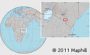 Gray Location Map of Mbirikani