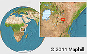 Satellite Location Map of Mbirikani