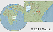 Savanna Style Location Map of Mbirikani, hill shading