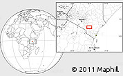 Blank Location Map of Kalulini